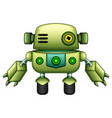 green robot cartoon isolated on white background vector image vector image