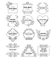 hand drawn floral frames set for branding vector image vector image