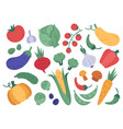 hand drawn vegetables farm veggies cartoon vector image vector image