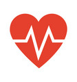 heart beat health care medical vector image vector image