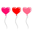 heart red and pink balloons for your design stock vector image vector image