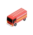 Isometric fire truck vector image vector image