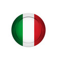 italian flag on the round button vector image