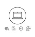 laptop computer icon notebook sign vector image vector image