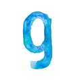 Letter G Colorful watercolor aquarelle font type vector image vector image
