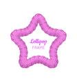 lollipop star violet frame vector image