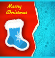 merry christmas template vector image vector image