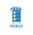 mobile store graphic design template vector image