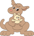 Mother and Baby Kangaroos vector image vector image