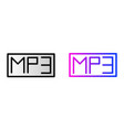 mp3 icon mp3 music audio format vector image
