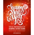 New Year party poster template vector image vector image