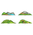 new zealand landmarks parks and mountains set vector image
