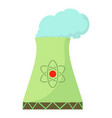 nuclear power plant icon cartoon style vector image vector image