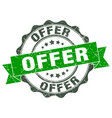 offer stamp sign seal vector image vector image