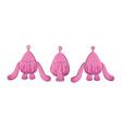 painting digital alien pink monster cartoons vector image vector image
