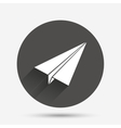 Paper Plane sign Airplane symbol Travel icon vector image vector image