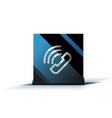 phone support web button vector image