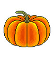 pixel big pumpkin detailed isolated vector image vector image