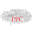 ppc word cloud concept vector image vector image