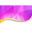Purple flare - abstract wavy background vector image vector image