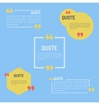 QuotesTemplate in flat style Colored Flat Quotes vector image