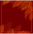 red tropical background vector image vector image