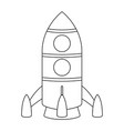 rocket cartoon outline drawing vector image