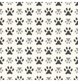 Seamless animal pattern of paw footprint Endless vector image vector image