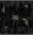 seamless background with city building night vector image
