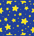 seamless background with stars 1 vector image