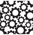 Seamless pattern background with cogwheels vector image