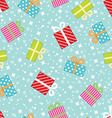 Seamless pattern with Christmas gift boxes vector image vector image