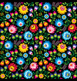 seamless polish folk art floral pattern vector image vector image