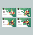 set of banners or landing page templates vector image vector image