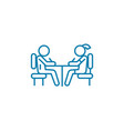 signing the agreement linear icon concept signing vector image vector image