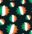 Star flag of Ireland seamless pattern Background vector image