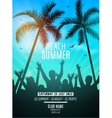 Summer beach party design template Party people
