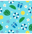 summer pattern - colorful seamless pattern vector image vector image