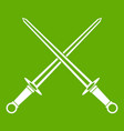 swords icon green vector image vector image