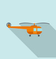 transport helicopter icon flat style vector image vector image