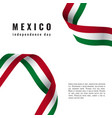 viva mexico background with ribbon independence vector image