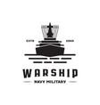war ship logo vector image
