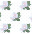 Watercolor Delicate Roses pattern vector image vector image