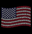 waving american flag stylization of uncle sam hat vector image vector image