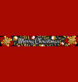 web banner merry christmas vector image vector image