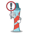 with sign toothpaste character cartoon style vector image