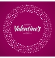 Pink Hearts Circle Frame Valentines Day Card vector image
