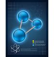 3d molecular infographic template design vector image vector image