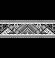 art tattoo sleeve in polynesian style border vector image vector image