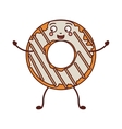 avatar donut with white glazed and stripeds vector image vector image